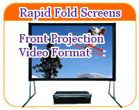 Rapid Fold front projection screen